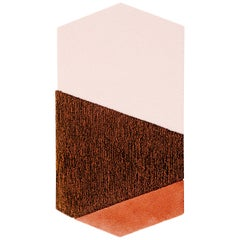 Oci Left Rug in Brown Coral by Seraina Lareida for Portego