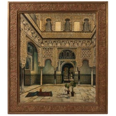Juan Montenegro, Painting of the Backyard of the Alcazar of Seville