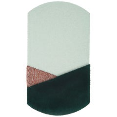 Oci Center Rug in Green Brick by Seraina Lareida for Portego