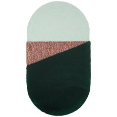 Oci Right Rug in Green Brick by Seraina Lareida for Portego