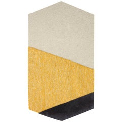 Oci Left Rug in Gray Yellow by Seraina Lareida for Portego