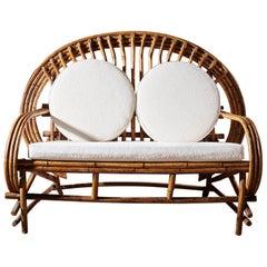 French Midcentury Bamboo Sofa, circa 1950