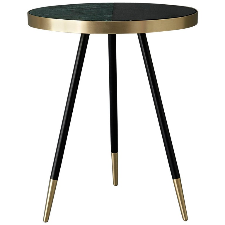 Bethan Gray Band Console Table Green Black Legs Brass