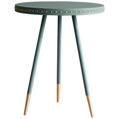Bethan Gray Stud Side Table Jade / Brass