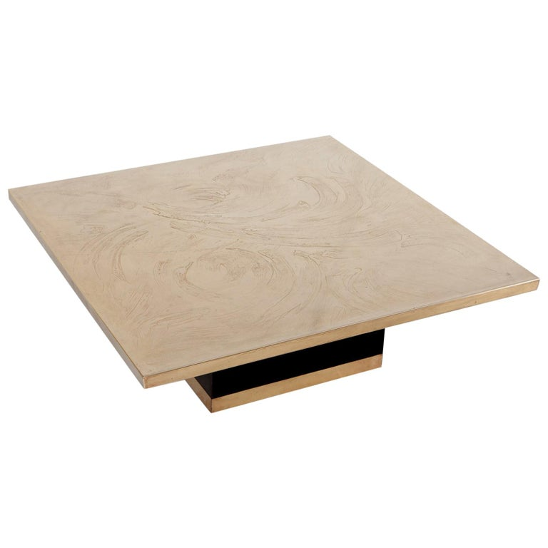 Georges Mathias Coffee Table in Etched Bronze