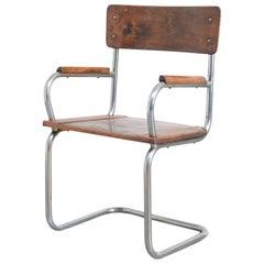 Modernist Tubular Cantilever Chair, 1930s