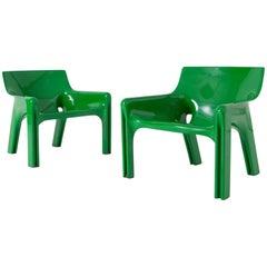 Post-modern Vico Magistretti Vicario Lounge Chairs