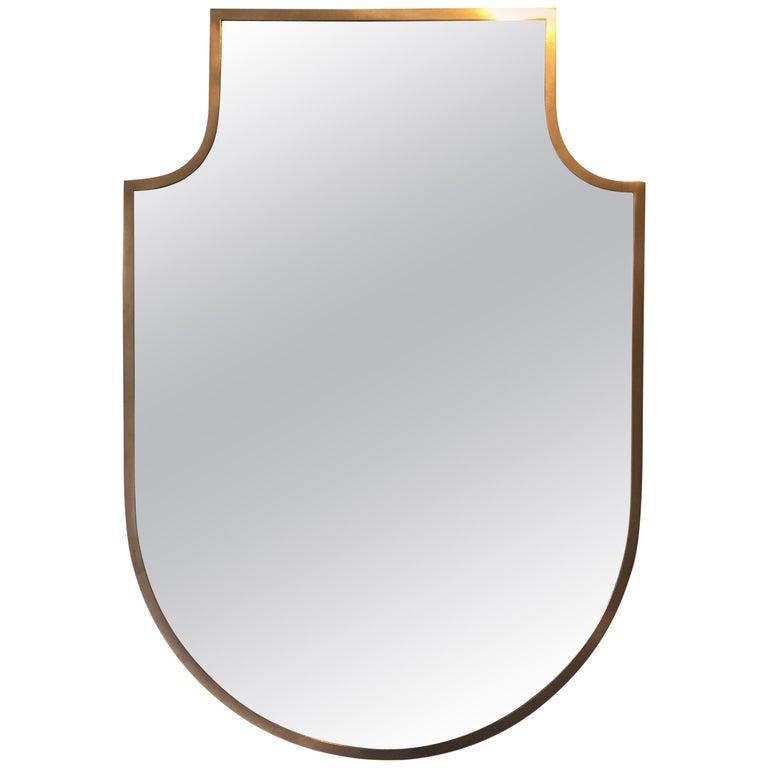 1950s Brass Mirror
