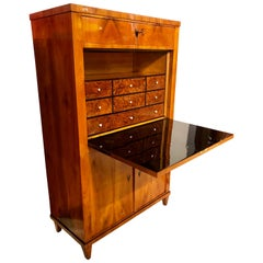 Biedermeier Secretaire, Cherry Veneer, South Germany/Munich, circa 1820