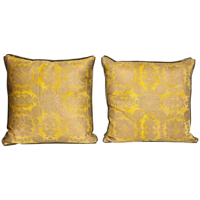Fortuny Fabric Cushions in the Impero Pattern