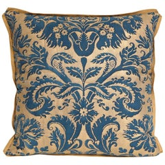 Fortuny Fabric Cushion in the Demedici Pattern