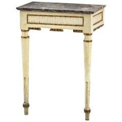 Small Louis-Seize Wall Console Table, 18th Century