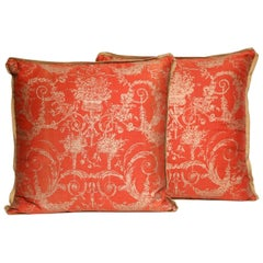 Pair of Fortuny Fabric Cushions in the Festooni Pattern