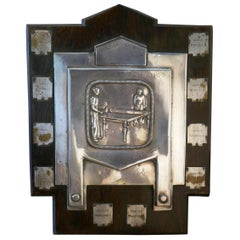 Traditional Shield Trophy, Art Deco Table Tennis Trophy, Chelmsford