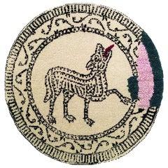 Contemporary Mosaic Wool Carpet