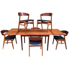 DUX Danish Modern Teak Dining Room Set