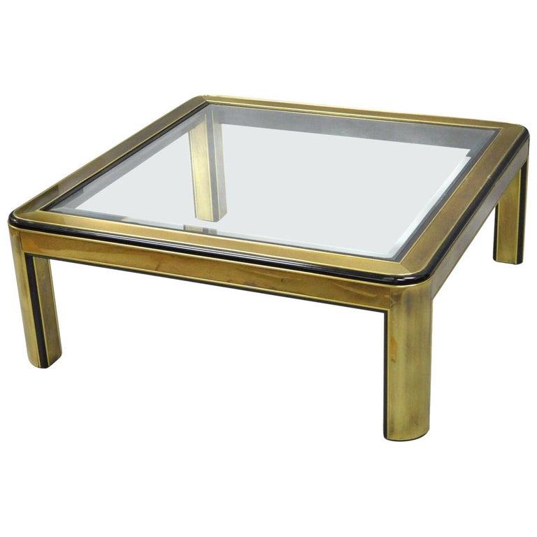 Vintage Square Mastercraft Mid-Century Modern Brass Coffee Table Base