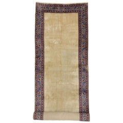 Antique Persian Mashhad Runner, Extra Long and Wide Hallway Runner