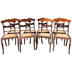 Early 19th Century Caribbean Regency Rosewood or Set of Eight Dining Chairs