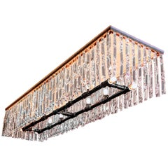 Lawrence Crystal Linear Flush Mount Chandelier