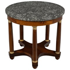 19th Century French Mahogany Gueridon or Center Table