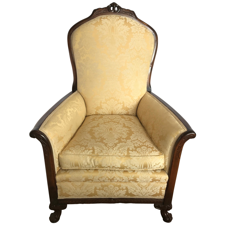 Antique Mahogany Carved George III Bishopu0027s Chair