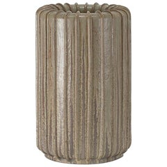 Tall Ribbed Stoneware Vase by Arne Bang
