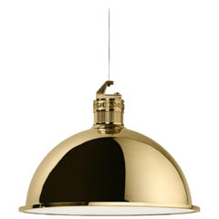 Ghidini 1961 Contemporary Bell Brass Suspension Lamp by Elisa Giovannoni