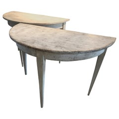 Gustavian Demi-lune Tables
