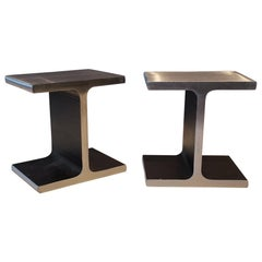 Steel I-Beam or Railroad Tie Bookends, circa 1970