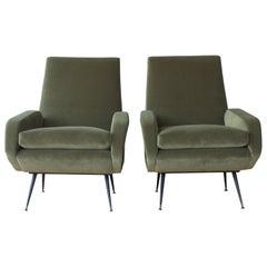 Pair of 1950s Italian Modern Armchairs