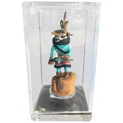 Native American Hopi Kachina Doll in Display Case