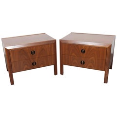 Pair of Walnut End Tables by Milo Baughman for Glenn of California