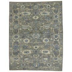 New Modern Persian Sultanabad Area Rug with Transitional Style