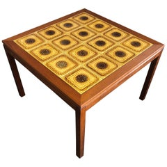 Midcentury Danish Tile and Teak Side Table