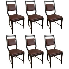 Vittorio Dassi Dining Chairs, Set of Six