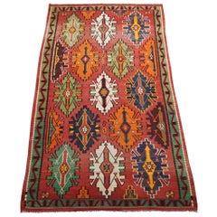 Antique Caucasus Abrash Wool Kilim Rug