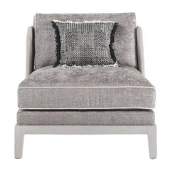 Gianfranco Ferré Peggy Armchair in Grey Fabric