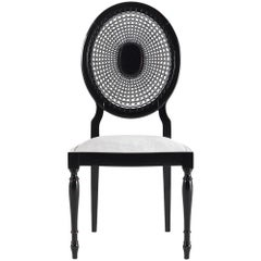 Gianfranco Ferré Charlotte Chair in Black Lacquered Wood