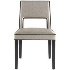 Gianfranco Ferre Elvis Chair in Grey Upholstery with Black Lacquered Wood