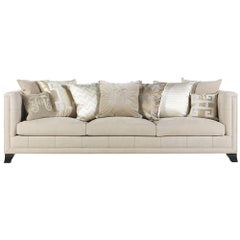 Gianfranco Ferre Barney Three-Seat Sofa in Beige Fabric