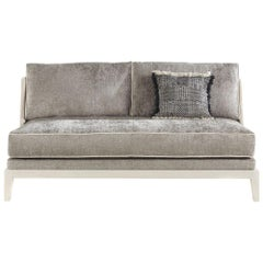 Gianfranco Ferré Peggy Two-Seat Sofa in Grey Fabric