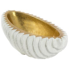 White and Gold Centerpiece Bowl by Mecox Gardens