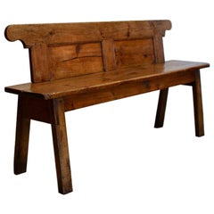 Early 19th Century Danish Hall Bench in Pine