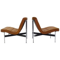 Pair of Two Armchairs by William Katavolos for ICF Milano, Italy, 1990
