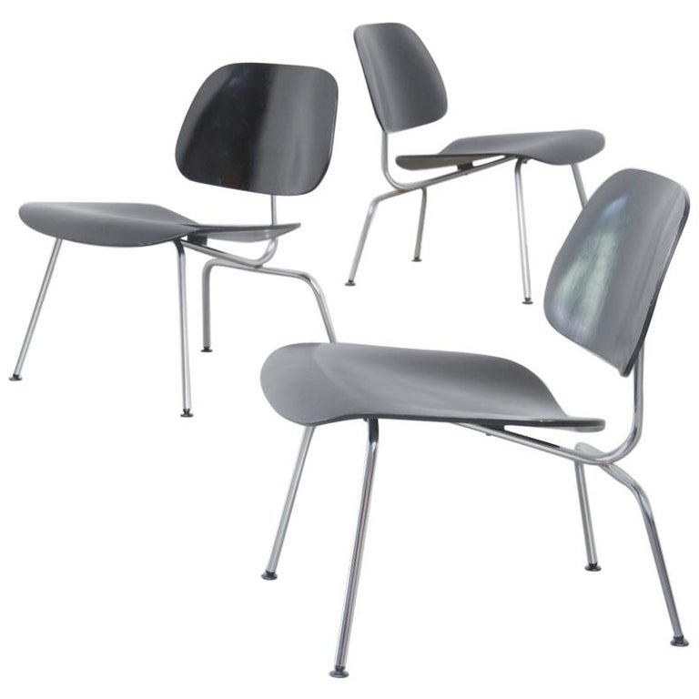 Black LCM Chairs by Charles & Ray Eames for Herman Miller