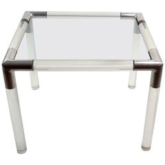 Lucite Glass Table by Charles Hollis Jones
