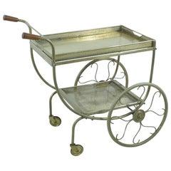 Vintage Swedish Brass Trolley by Josef Frank for Svenskt Tenn
