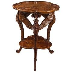 French Art Nouveau Dragonfly Table by Émile Gallé