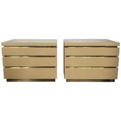 1970s Romeo Lacquered Bed Side Tables by Jean Claude Mahey
